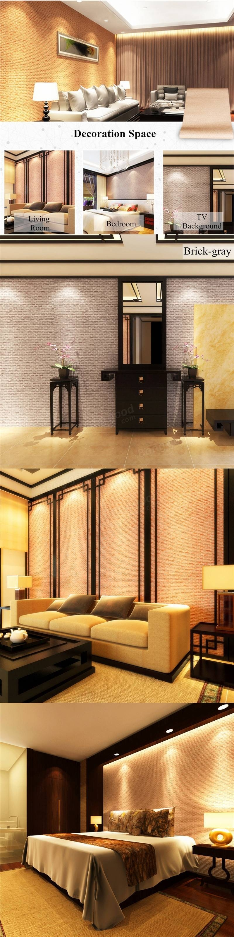 10M 3D Wallpaper Roll Vintage Effect Natural Embossed Stack Stone In Most Recent Space 3D Vinyl Wall Art (View 1 of 20)