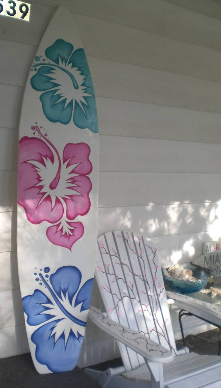 11 Best Surf Theme Bedroom Images On Pinterest | Decking, Solid Inside Most Up To Date Decorative Surfboard Wall Art (View 13 of 25)