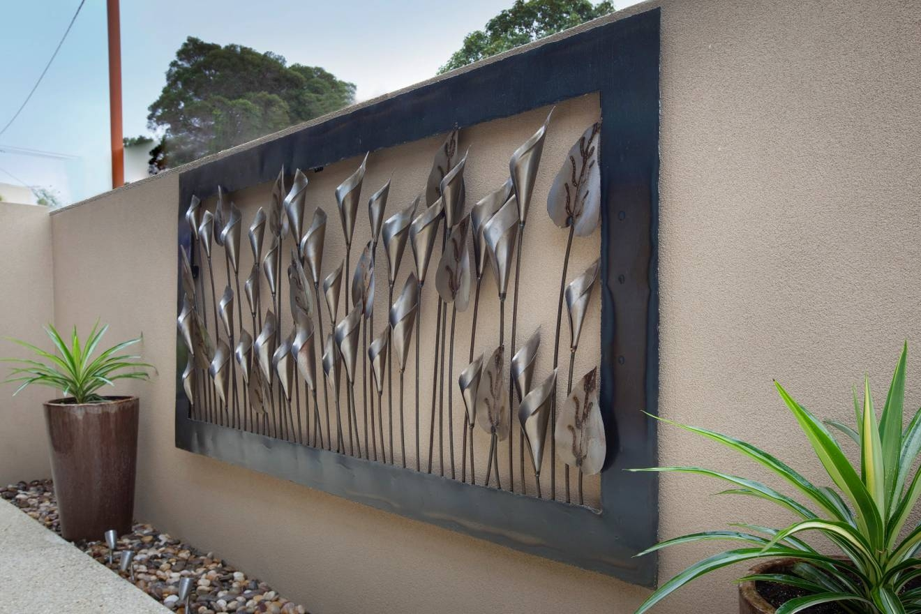 1200 X 2400 Silver Lily Outdoor Metal Wall Art (1320×880 Regarding Most Current Artisan Metal Wall Art (View 23 of 25)