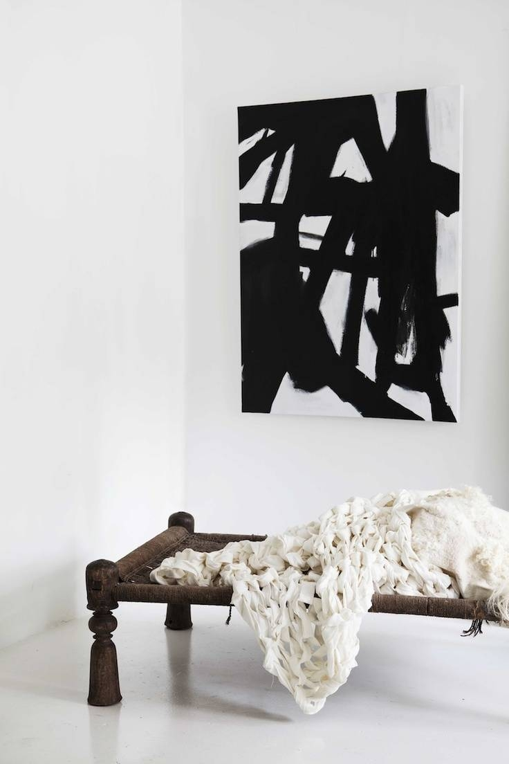 123 Best Diy – Black And White Abstract Images On Pinterest Within Best And Newest Black White And Red Wall Art (View 1 of 20)