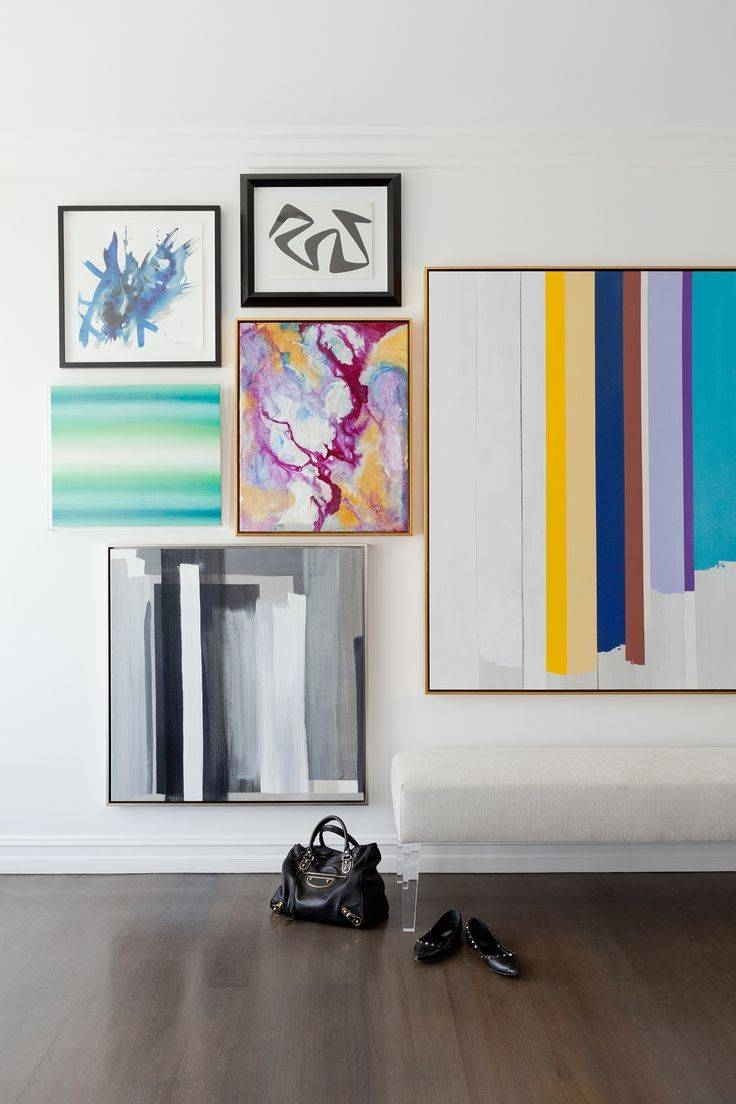125 Best Art Images On Pinterest | 3 Piece Wall Art, Abstract Art Throughout Most Recent Colorful Abstract Wall Art (View 1 of 20)