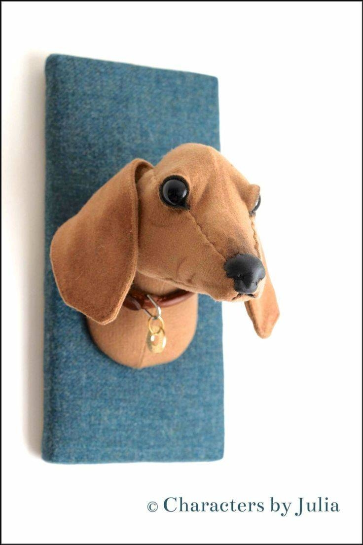 127 Best Textile Taxidermy Images On Pinterest | Faux Taxidermy In Newest Dogs 3D Wall Art (View 1 of 20)
