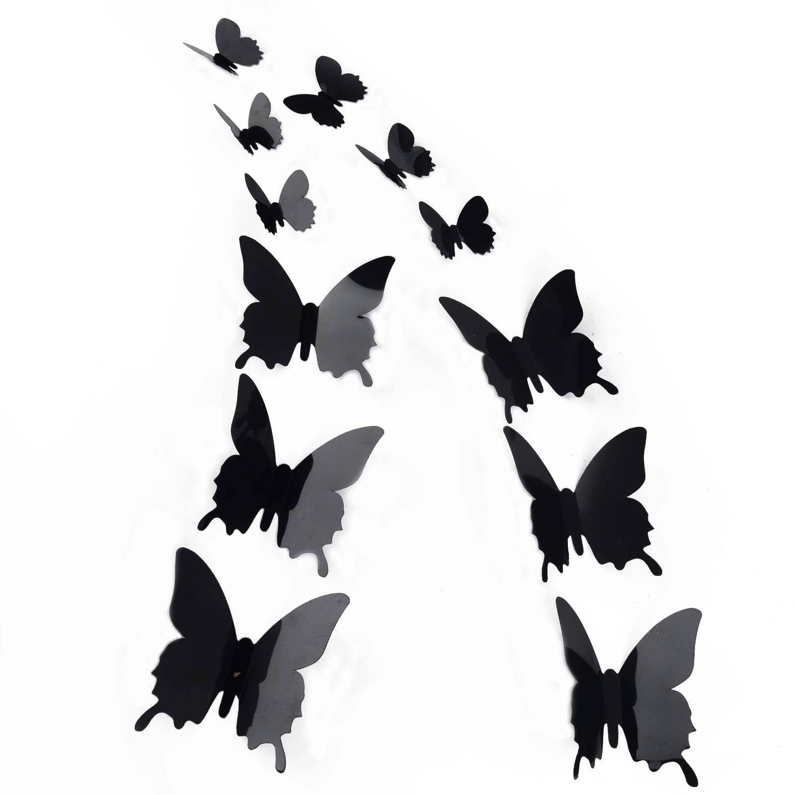 12Pcs 3D Butterfly Sticker Art Design Decal Wall Stickers Home Inside Newest White 3D Butterfly Wall Art (View 1 of 20)