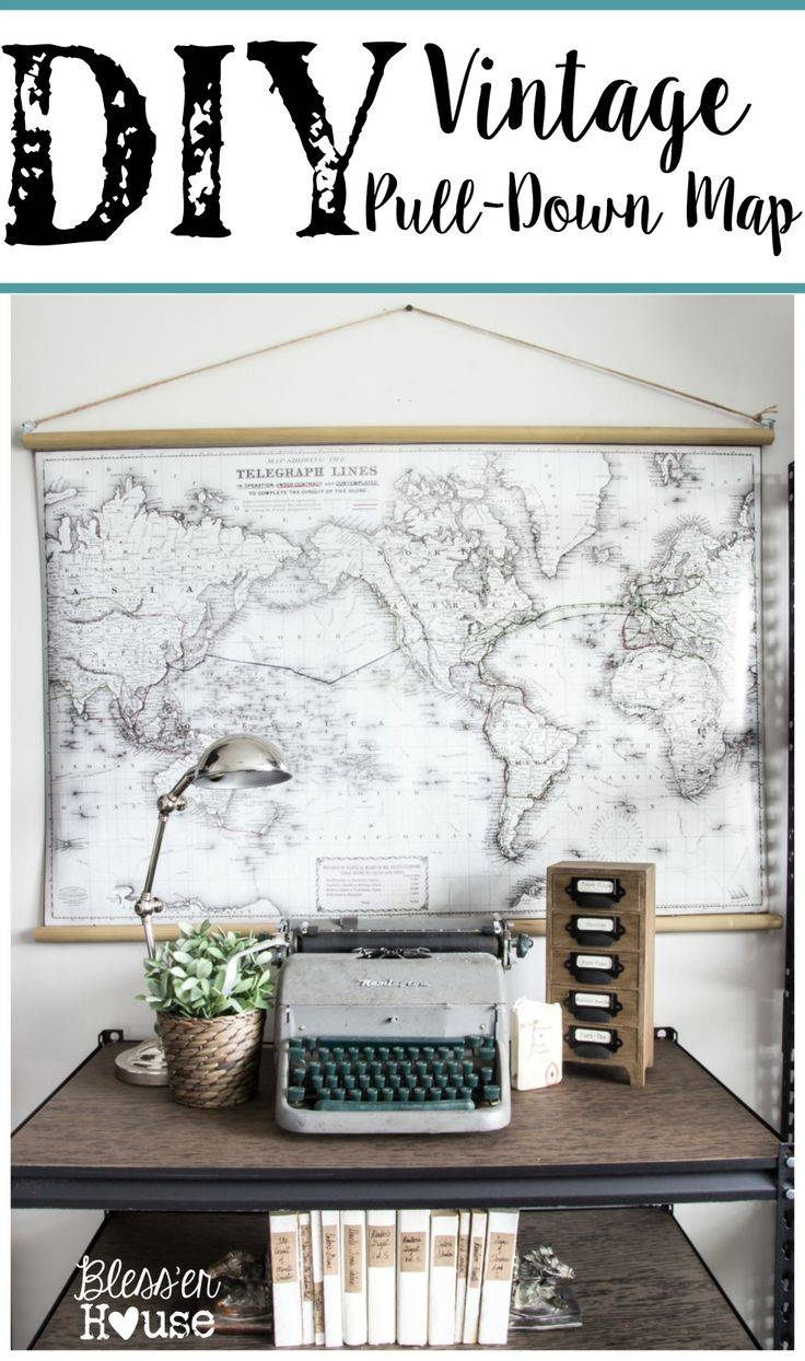 136 Best Decorating: Diy Wall Art Images On Pinterest | Diy Wall Pertaining To Most Recent Large Vintage Wall Art (View 8 of 20)