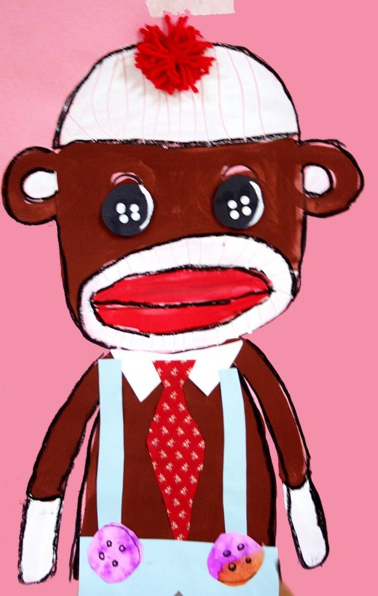 140 Best Year Of The Monkey 2016 Images On Pinterest | Monkeys Within Most Up To Date Sock Monkey Wall Art (Gallery 16 of 30)