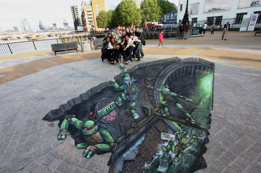 15 Mind Blowing 3D Street Art Illusions | Must See | Reckon Talk With Most Current 3D Wall Art Illusions (View 1 of 20)