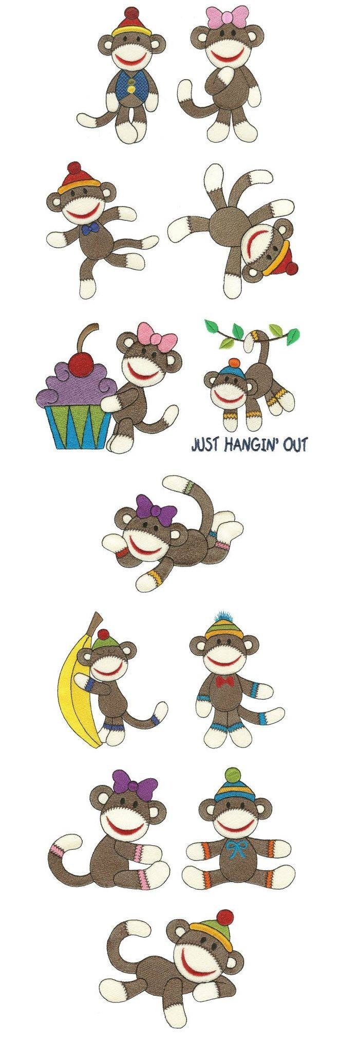 151 Best Kids – Monkeys Images On Pinterest | Monkeys, Wrapping Throughout Most Up To Date Sock Monkey Wall Art (View 24 of 30)