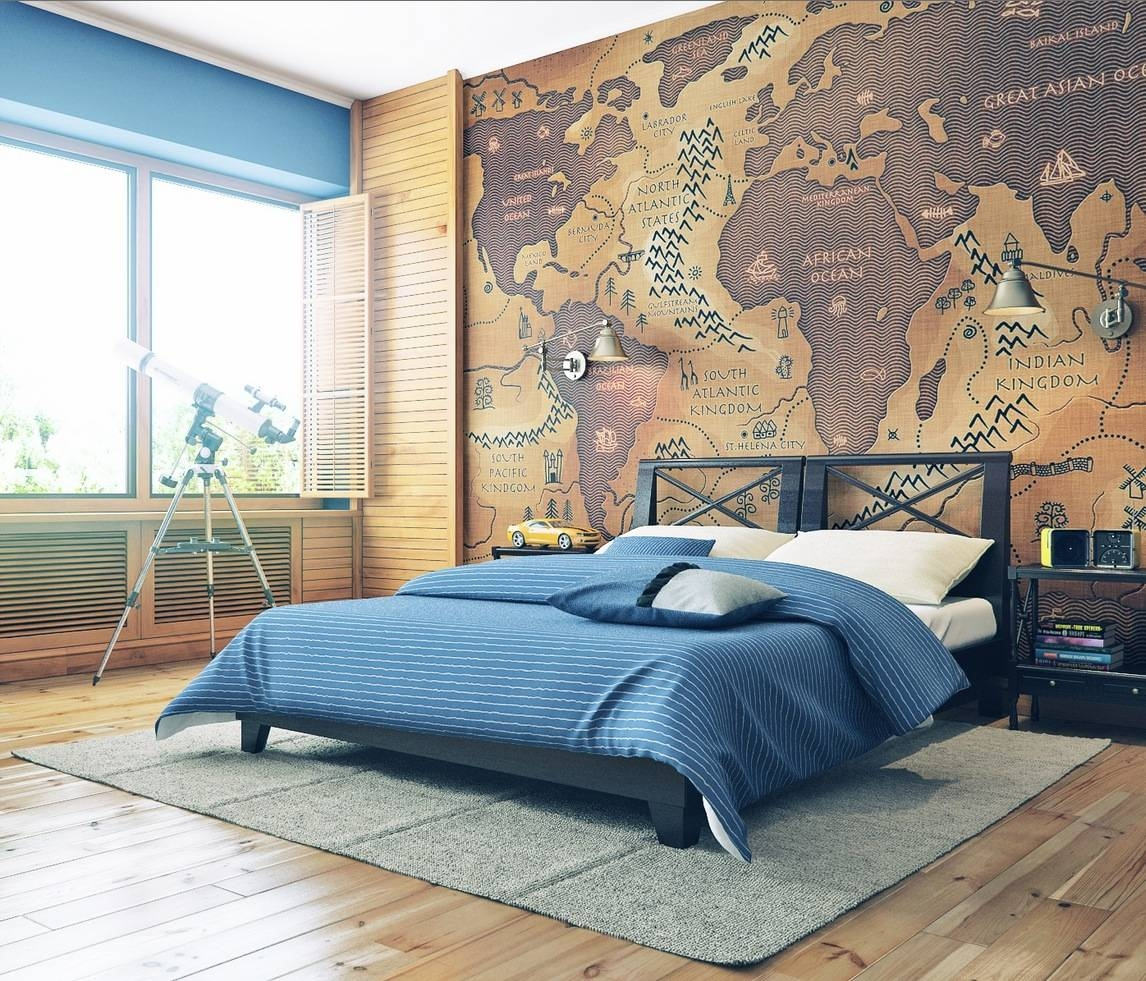 17 Cool Ideas For World Map Wall Art – Live Diy Ideas Inside Most Up To Date Maps For Wall Art (View 13 of 20)