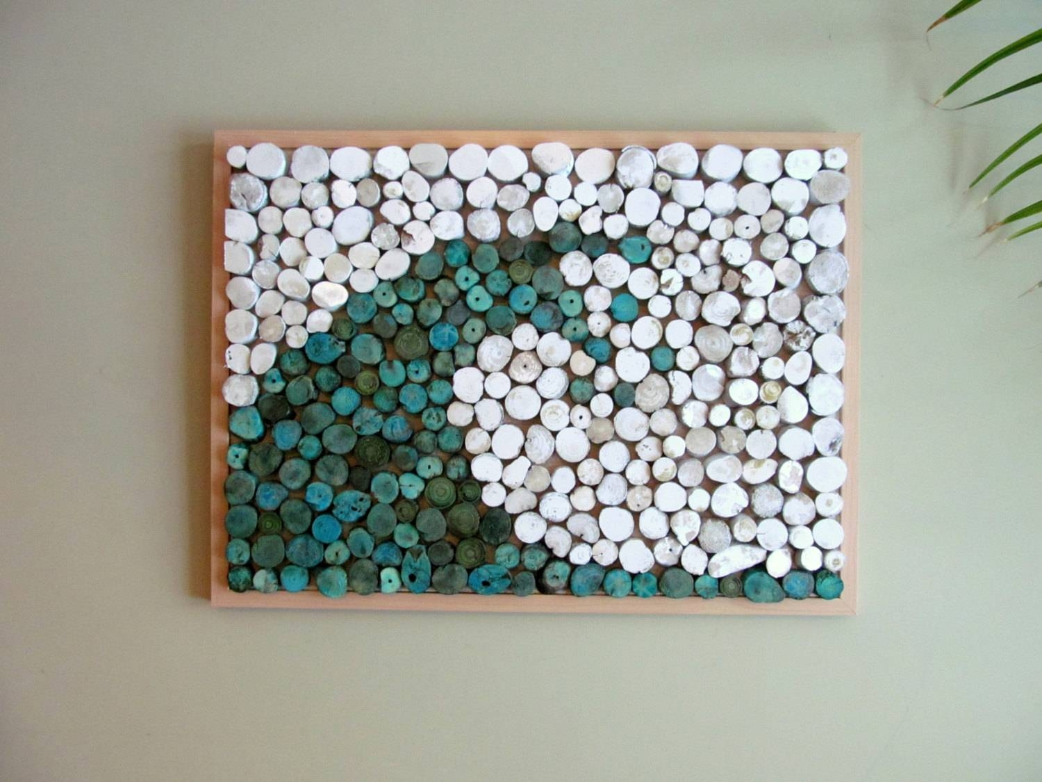 17 X 23 Abstract Wave Driftwood Slice Hanging Art Regarding Most Up To Date Recycled Wall Art (View 1 of 30)