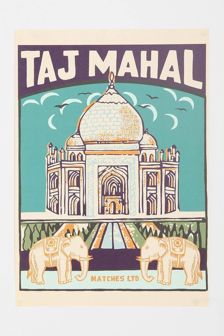 180 Best Taj Mahal Indian Design Images On Pinterest | Fabric Regarding 2017 Taj Mahal Wall Art (View 1 of 25)