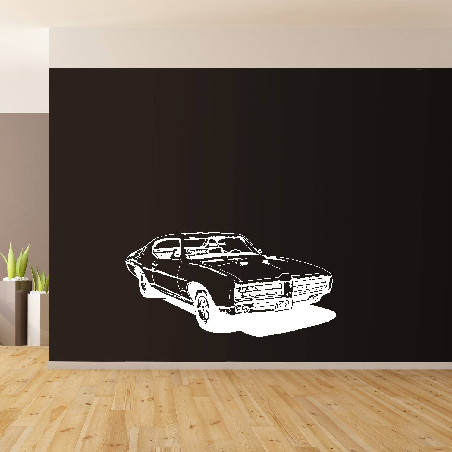 1969 Pontiac, Classic American Muscle Car Wall Art, Giant Sticker Pertaining To Most Recently Released Classic Car Wall Art (View 3 of 25)