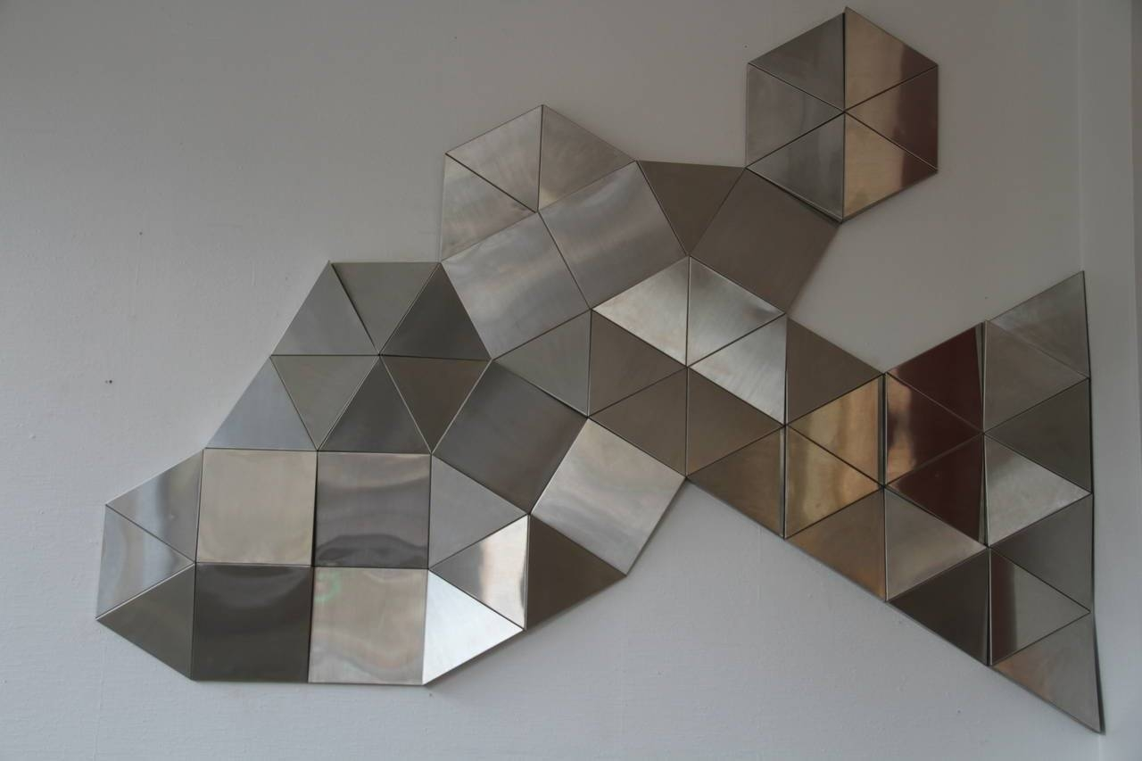 1970 Stainless Steel Modular Wall Sculpture For Sale At 1Stdibs With Regard To Best And Newest Modular Wall Art (View 1 of 25)