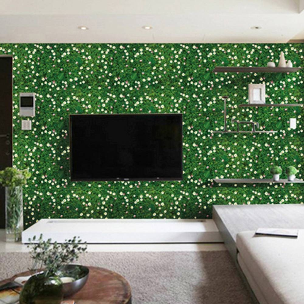 1pcs 3d Effect Seamless Collage Green Grass Ground Sticker Home With Regard To Newest 3d Effect Wall Art (View 16 of 20)
