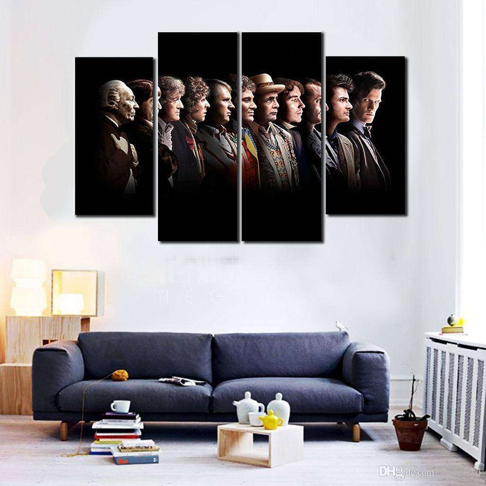 2016 Hot 4 Panels Hd Doctor Who Posters Painting Canvas Wall Art Throughout Recent Cheap Wall Canvas Art (View 12 of 20)