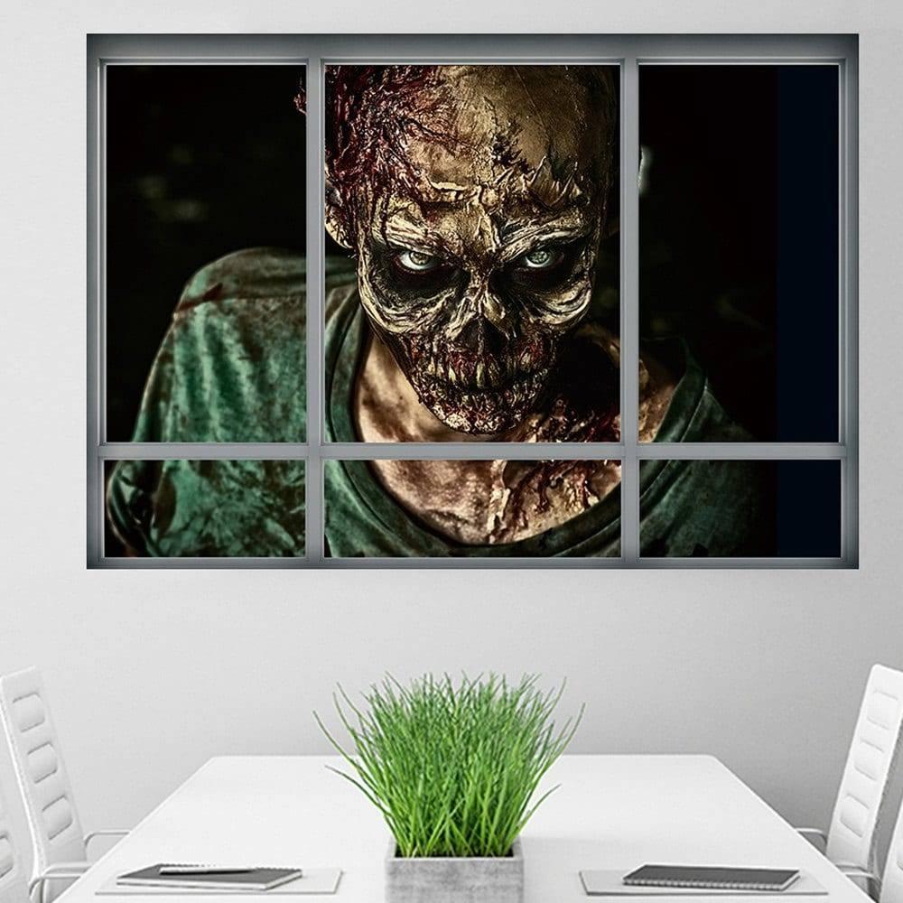2017 Halloween Window Zombie 3D Wall Art Sticker Colormix  (View 2 of 20)