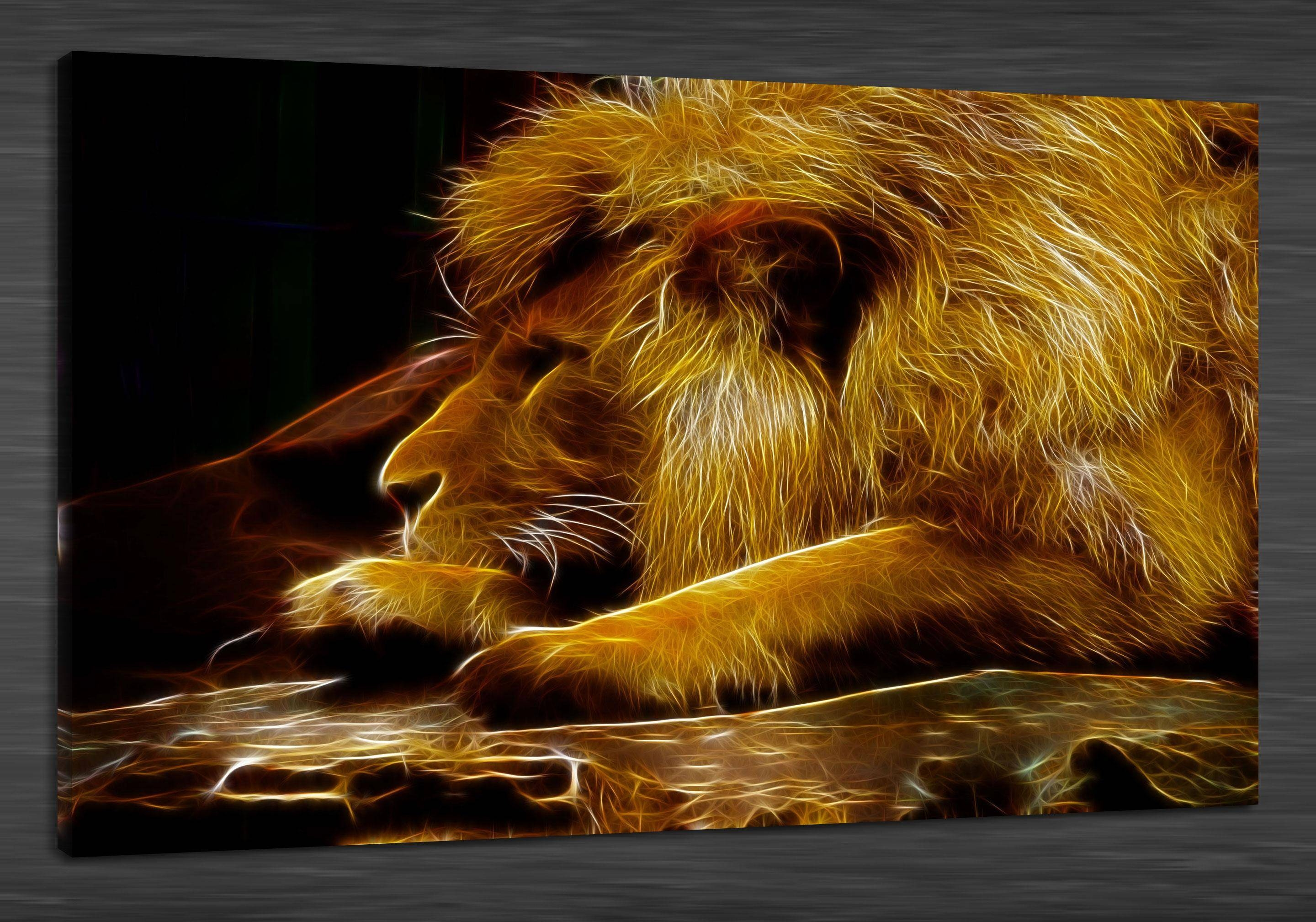 2017 Hd Canvas Print Home Decor Wall Art Painting,no Framed Lions With Regard To 2017 Animals 3D Wall Art (Gallery 11 of 20)