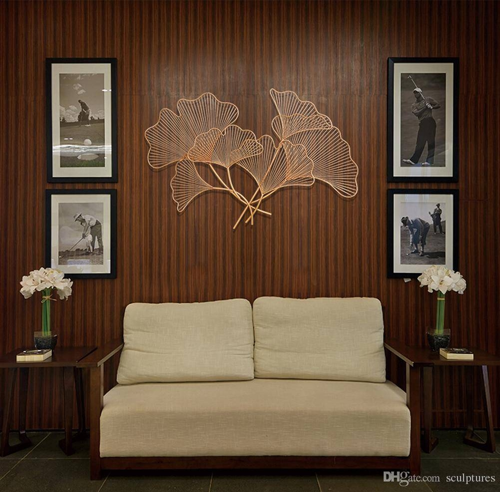 2017 Limited Handmade Asian Metal Wall Art Ginkgo Leaf In Regarding 2017 Asian Metal Wall Art (View 7 of 30)