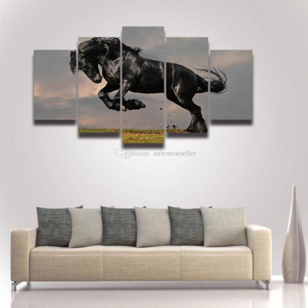 2017 Modern Canvas Wall Art Horse Painting Modular Picture Hd With Regard To Latest Modular Wall Art (View 3 of 25)