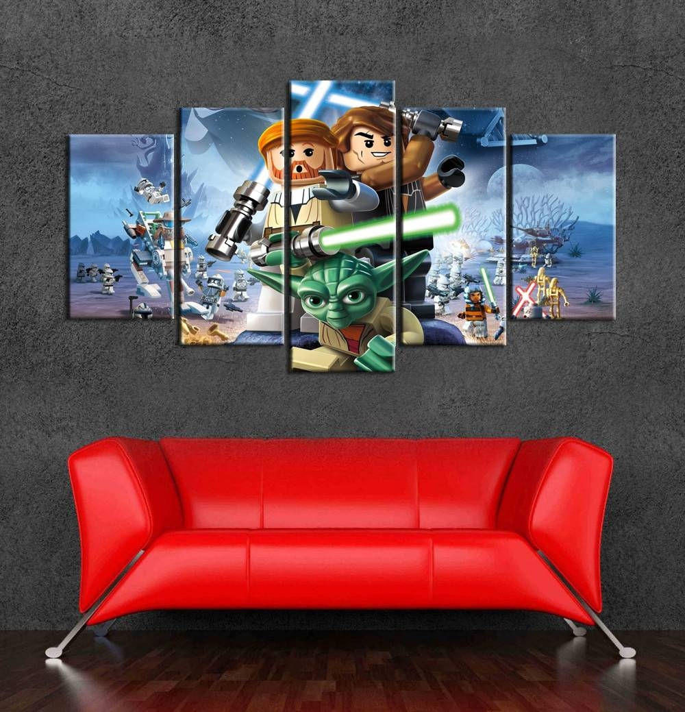 2017 Top Fashion Cartoon Posters Lego Star Wars Wall Art Canvas Within Most Recently Released Lego Star Wars Wall Art (View 1 of 20)