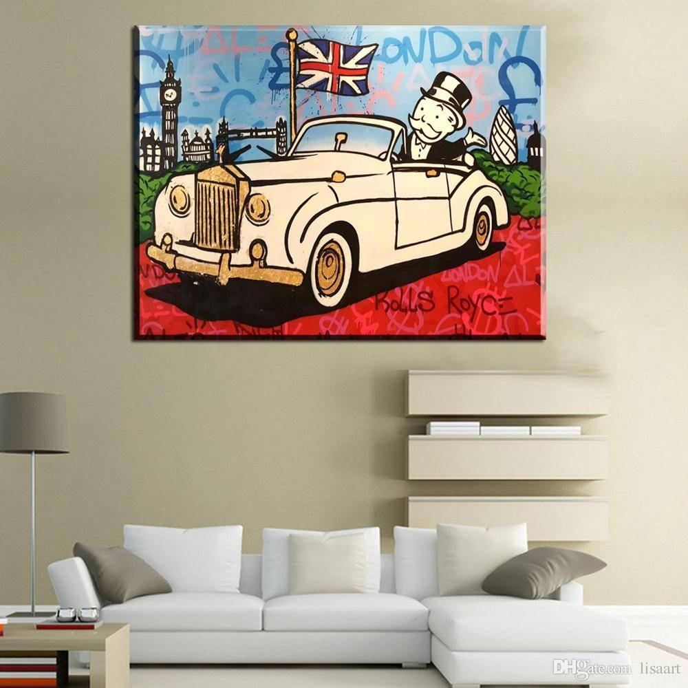 2017 Zz229 New Car Alec Monopoly Graffiti Art Print Canvas For Within Most Recent Classic Car Wall Art (View 4 of 25)