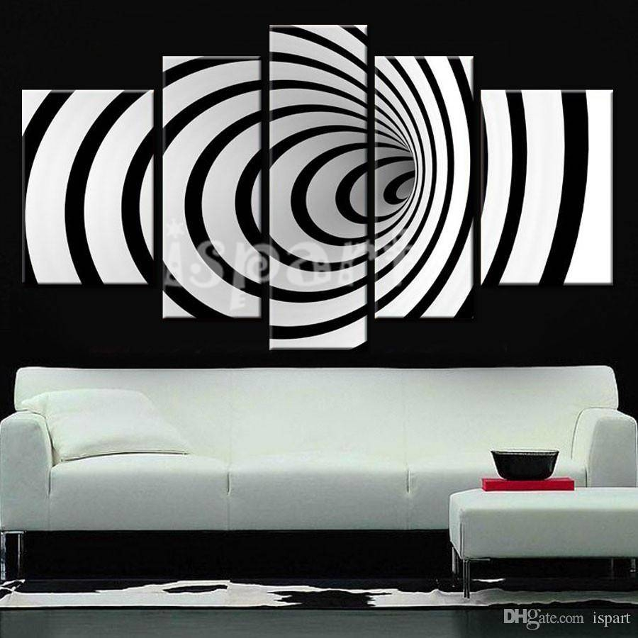 2018 Back To The Future! Modern Design 3d Black White Wall Art In Current Circles 3d Wall Art (View 8 of 20)