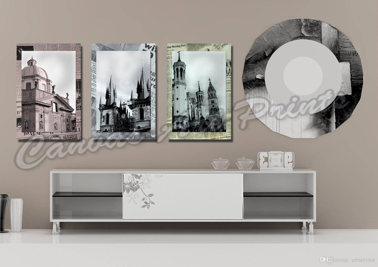 2018 Cheap Large Framed Art Home Decor Wall Paintings 3 Panel Wall Within Newest Cheap Black And White Wall Art (View 2 of 20)