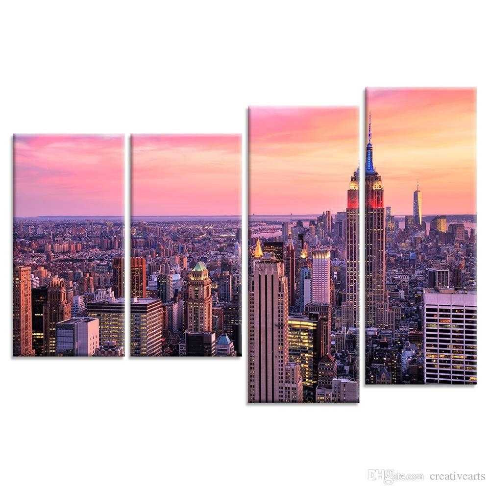 2018 Cityscape Canvas Wall Art Tall Buildings Skyscraper Canvas With Recent Cityscape Canvas Wall Art (View 3 of 20)