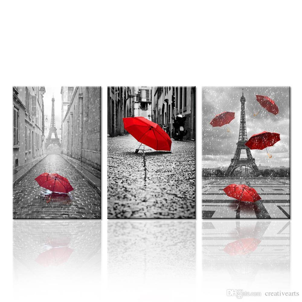 the best black and white wall art with red