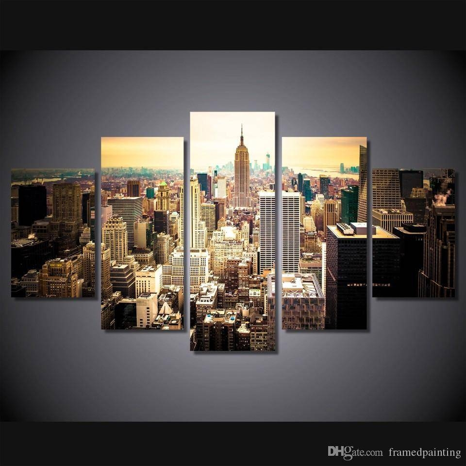 2018 Framed Hd Printed New York City Picture Wall Art Canvas Print Intended For 2017 New York City Canvas Wall Art (View 7 of 20)