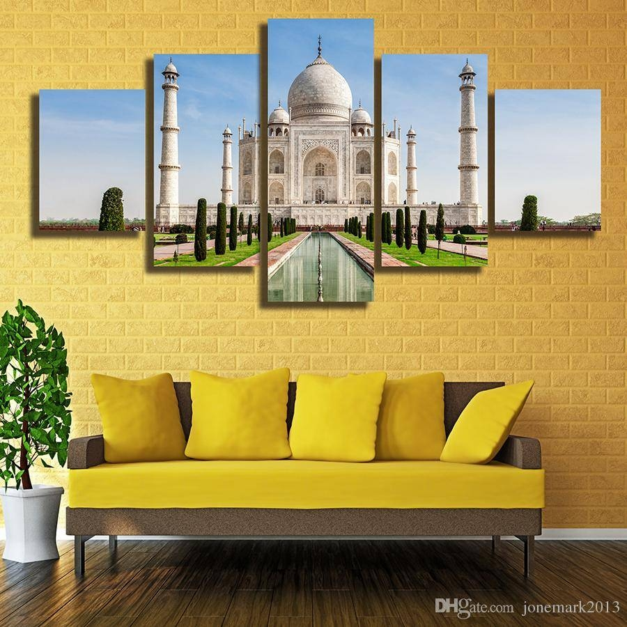 2018 Framed Hd Printed The Taj Mahal In India Picture Wall Art With Most Up To Date Taj Mahal Wall Art (View 2 of 25)