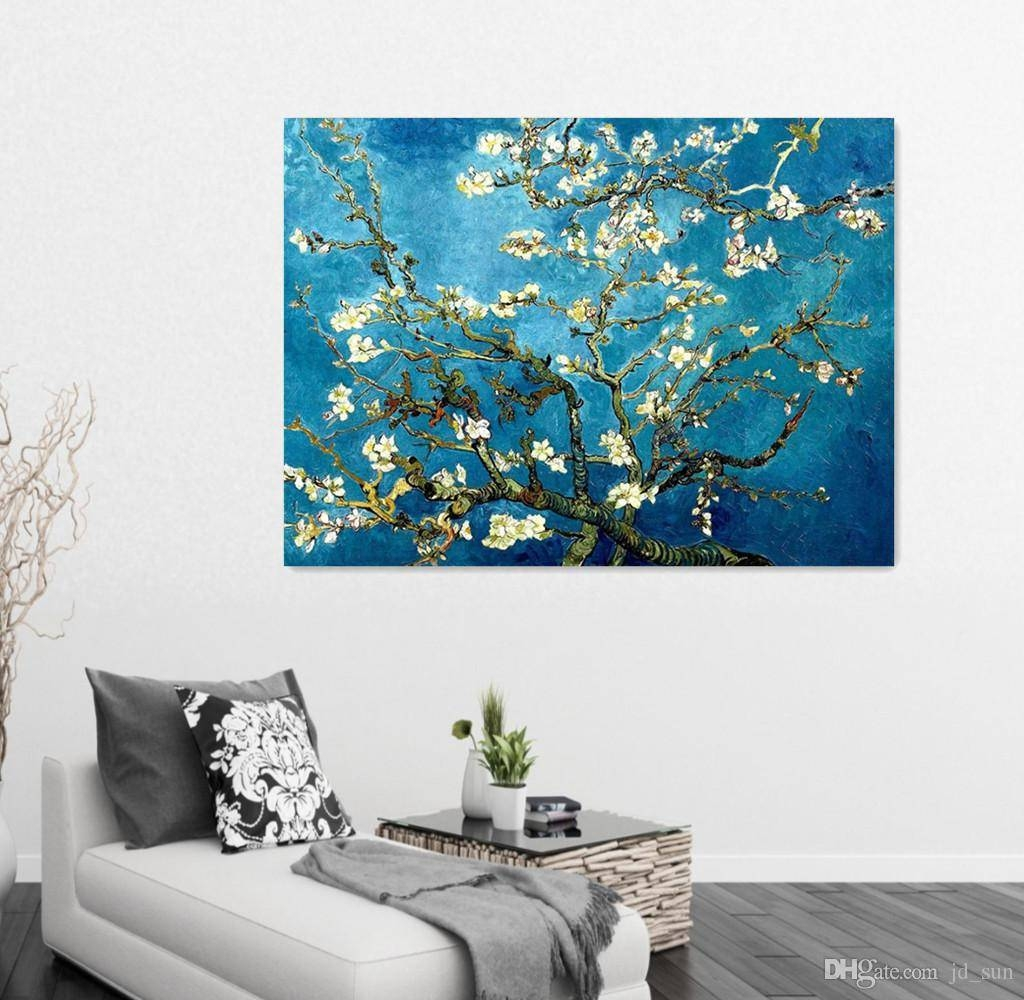 2018 Large Hd Posters Plum Blossom Tree Van Gogh Flower Retro Inside Best And Newest Plum Wall Art (View 1 of 20)