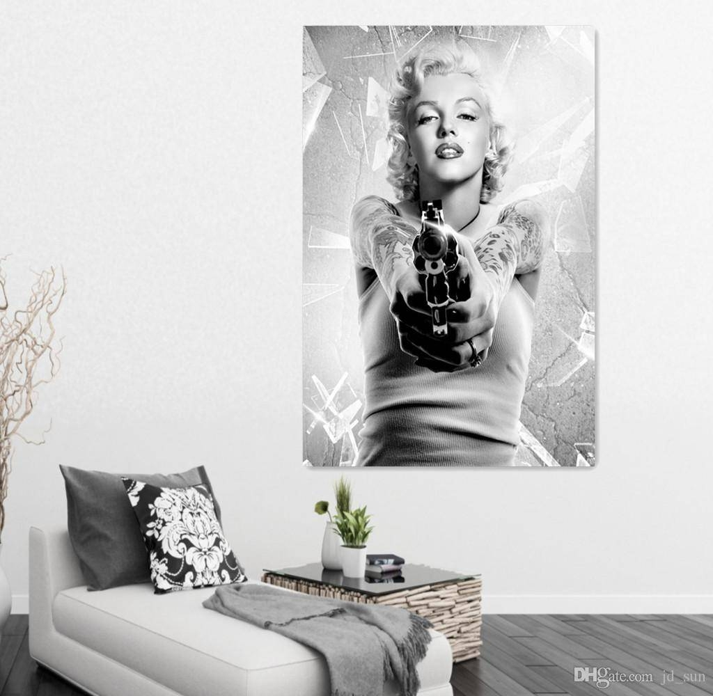2018 Marilyn Monroe Oil Painting On Canvas Art Prints Modern In Most Recently Released Marilyn Monroe Black And White Wall Art (View 1 of 15)