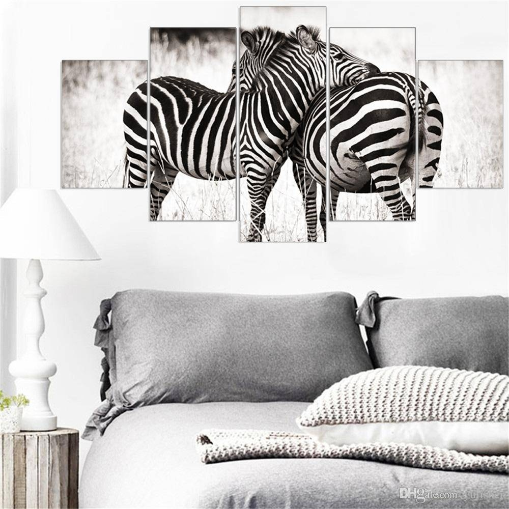 2018 Mordern Canvas Painting Animal Zebra Wall Art Posters And Inside Most Recently Released Zebra Wall Art Canvas (View 1 of 25)