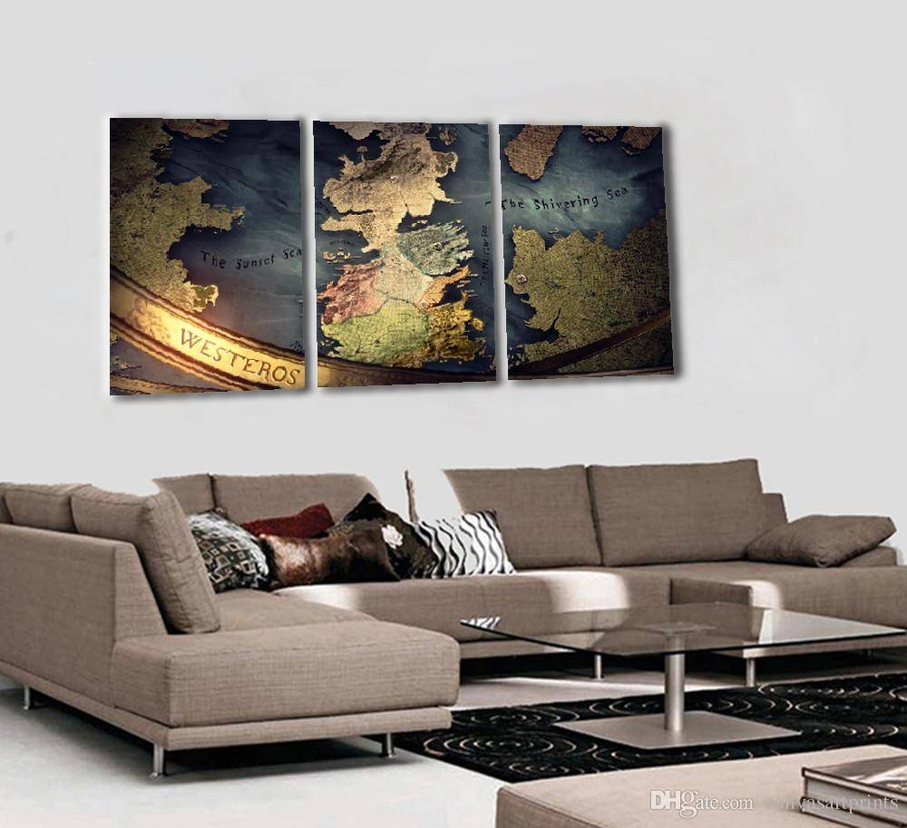 2018 No Framed Modern 3 Panel Wall Art Prints Painting Home Decor Intended For Most Popular Three Panel Wall Art (View 6 of 20)