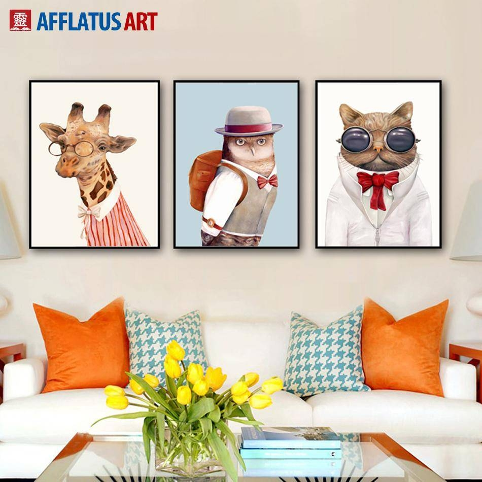 2018 Nordic Animal Wall Art Prints Poster Hipster Wall Picture For Current Animal Wall Art (View 2 of 25)