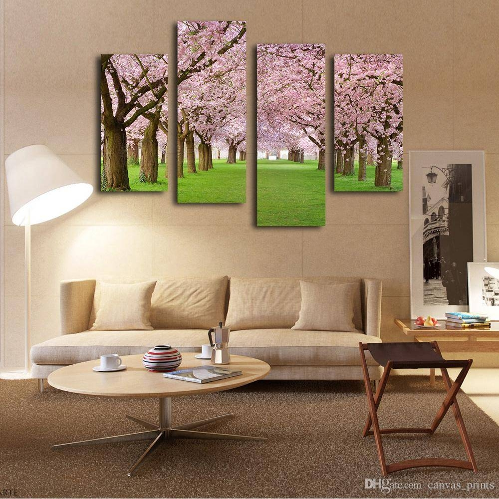 2018 Stretched To Hang Modern Realistic Flower Wall Art Cherry For Latest Art Prints To Hang On Your Wall (View 1 of 15)