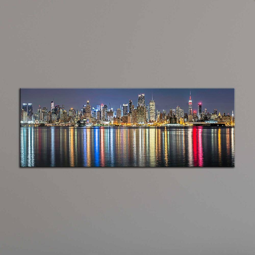 2018 Unframe New York City Canvas Painting Panoramic Home Decor In Most Current New York City Canvas Wall Art (View 16 of 20)