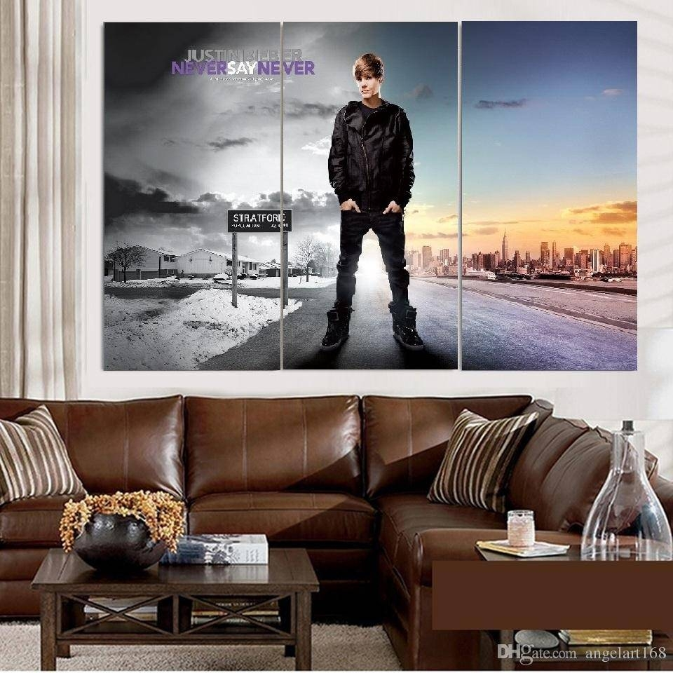 2018 Unframed Justin Bieber Never Say Never Oil Painting On Canvas Inside Most Current Justin Bieber Wall Art (View 1 of 20)