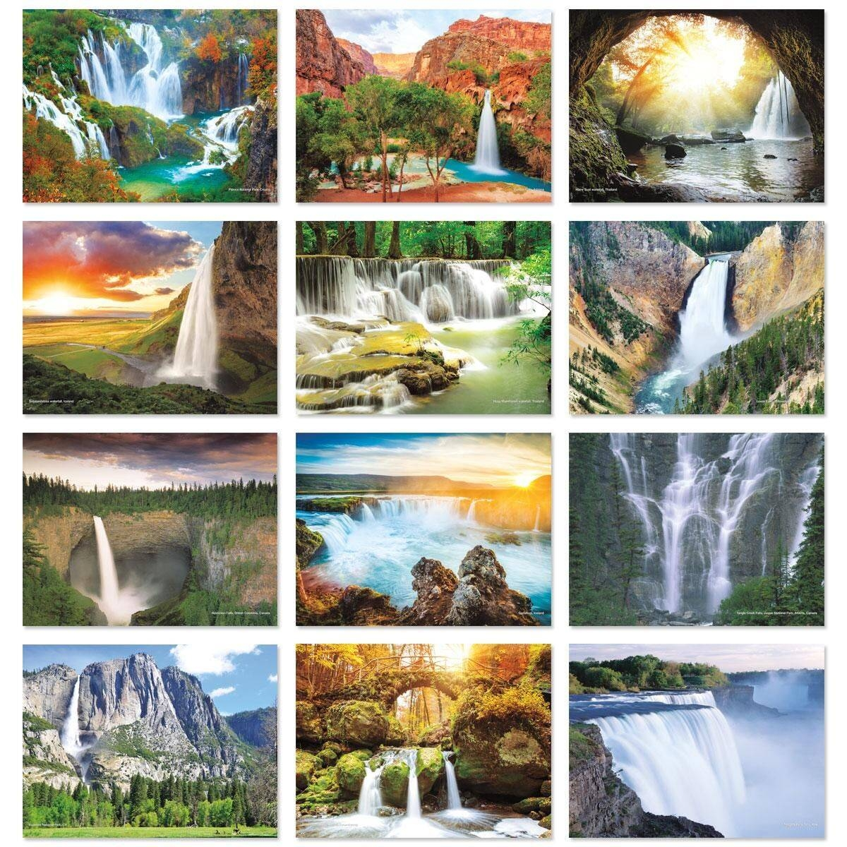 2018 Waterfalls Wall Calendar | Current Catalog Regarding Most Current Waterfall Wall Art (View 2 of 20)