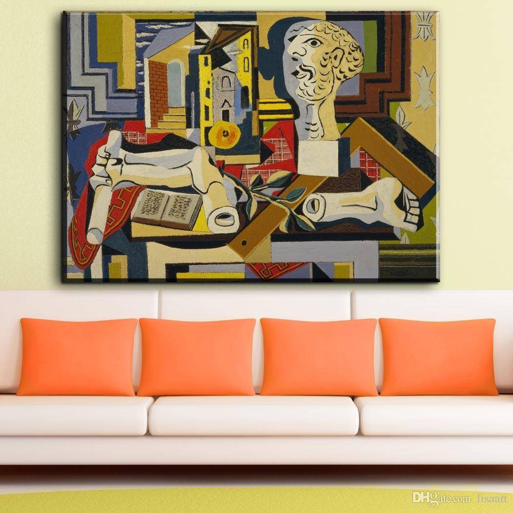 2018 Zz869 Abstract Canvas Prints Art Pablo Picasso Studio With In Current Abstract Canvas Wall Art (View 2 of 20)