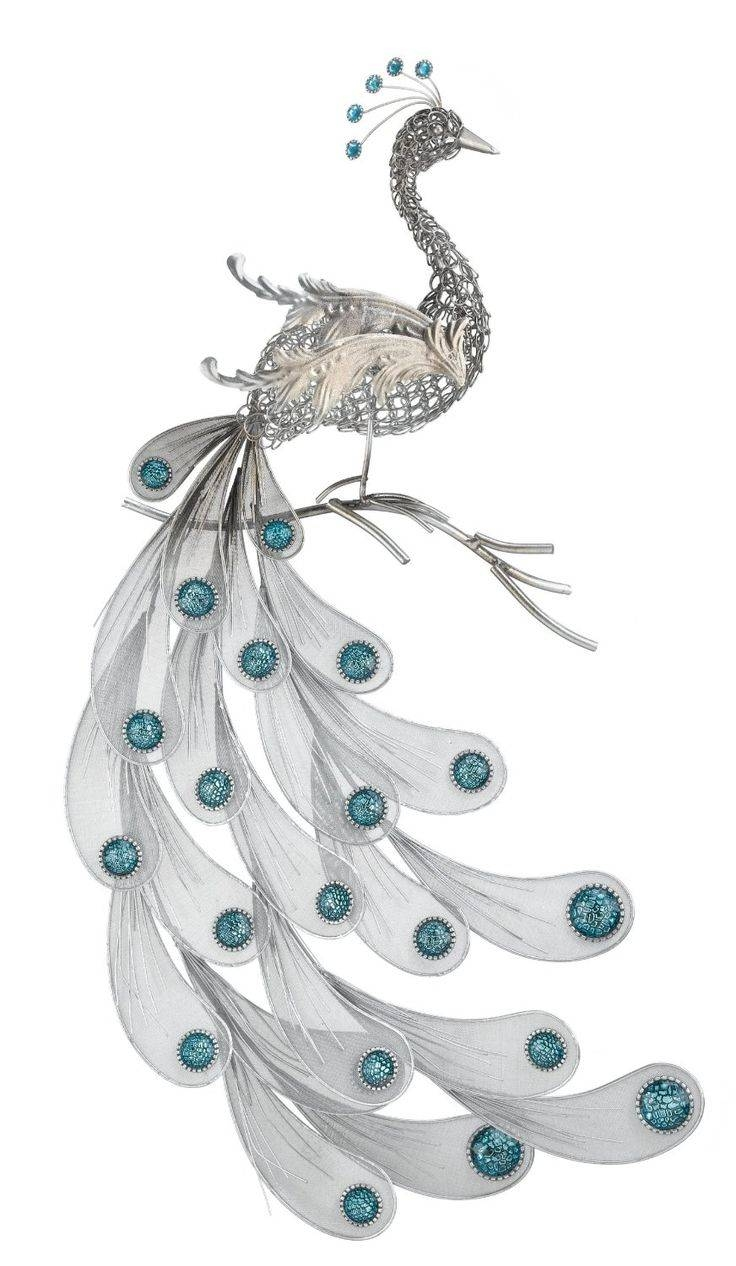 213 Best Peacock Metal Art Images On Pinterest | Peacocks, Metal Pertaining To Most Popular Jeweled Peacock Wall Art (View 1 of 20)