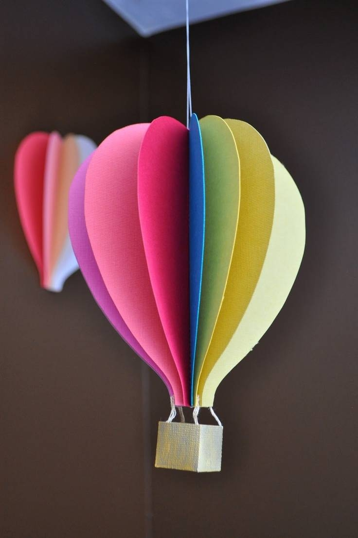 247 Best Airplane / Flying Party / Hot Air Balloon Images On For Newest Air Balloon 3d Wall Art (View 12 of 20)
