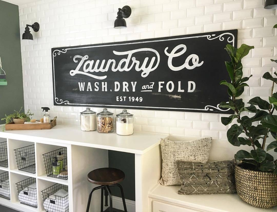 25 Best Vintage Laundry Room Decor Ideas And Designs For 2017 For Most Popular Laundry Room Wall Art Decors (View 1 of 25)