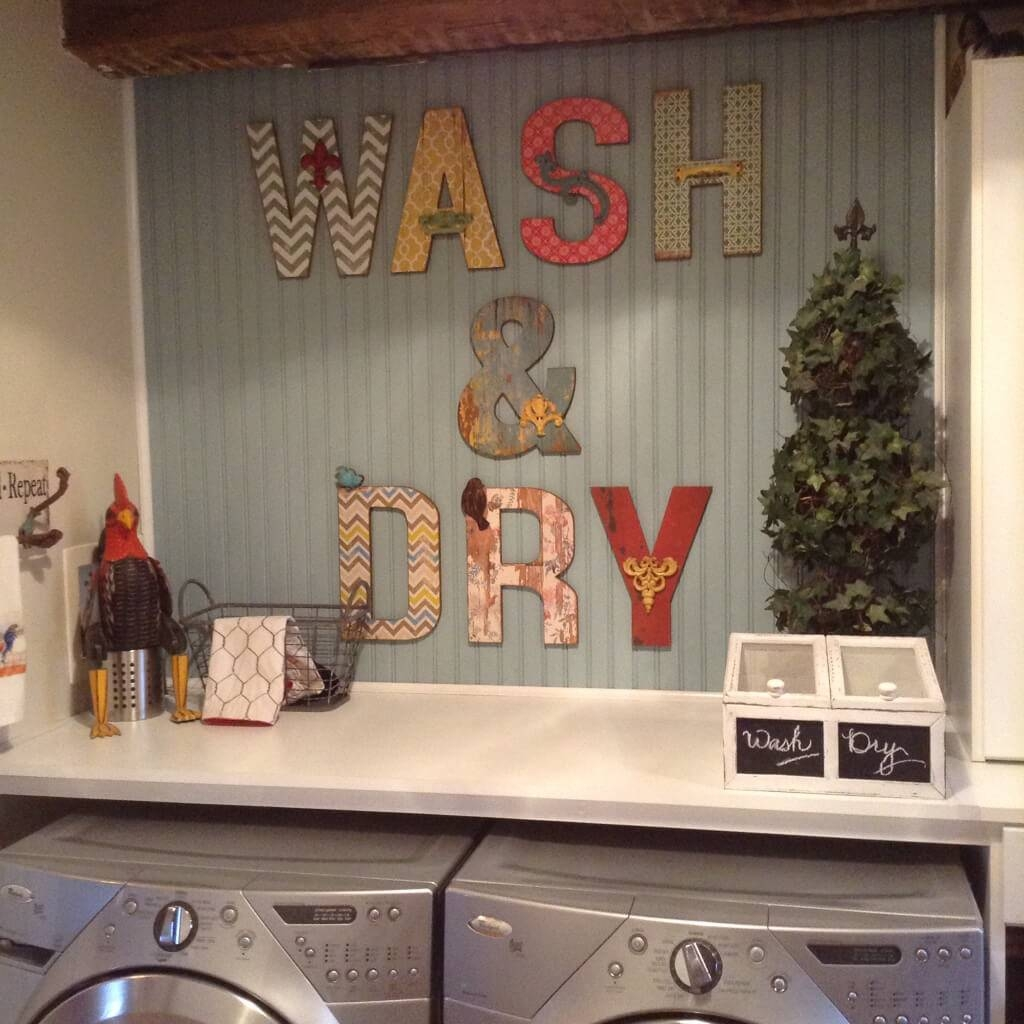 25 Best Vintage Laundry Room Decor Ideas And Designs For 2017 Inside Newest Laundry Room Wall Art (View 12 of 30)