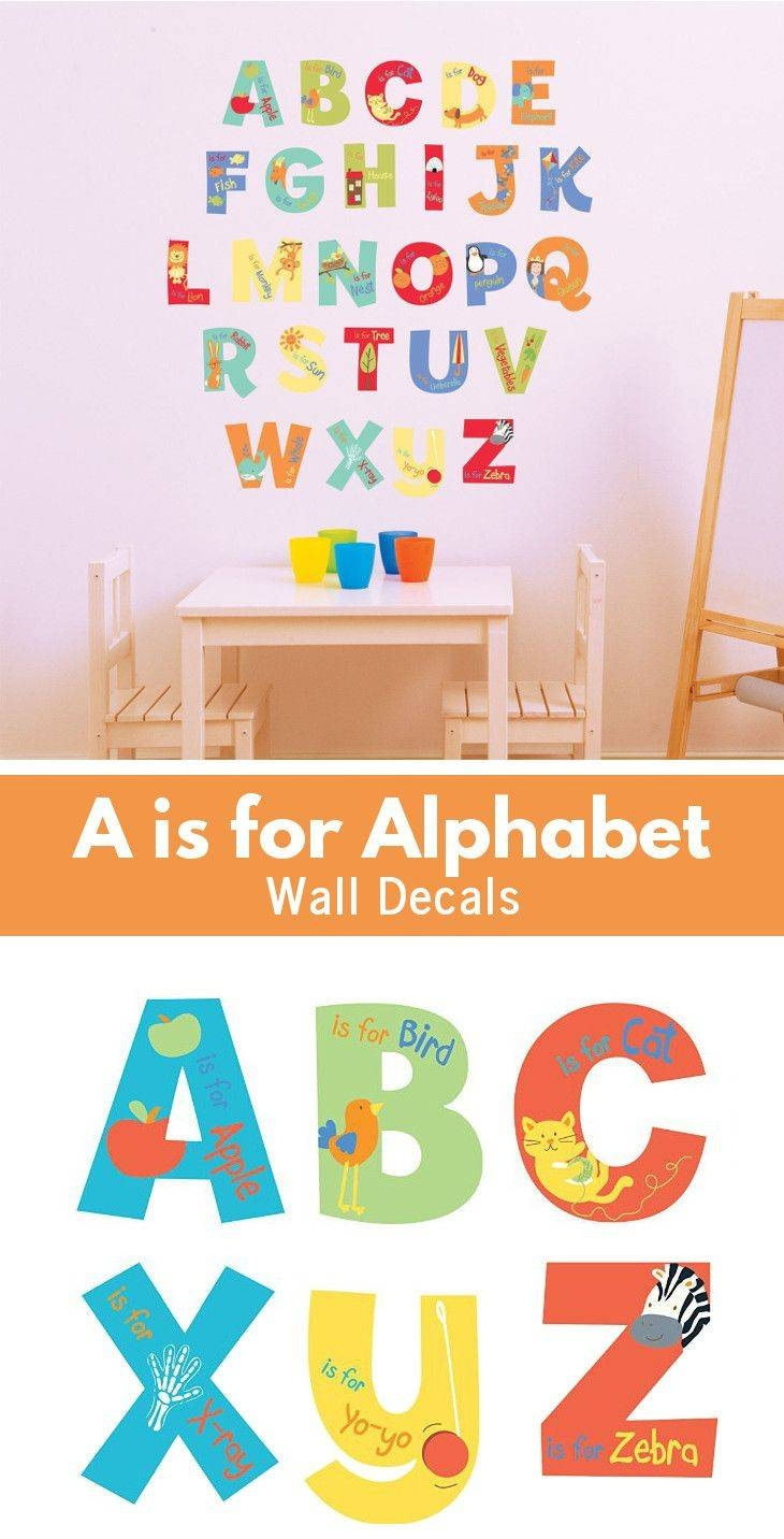 25+ Unique Alphabet Wall Decals Ideas On Pinterest | Alphabet Wall Pertaining To Most Popular Preschool Classroom Wall Decals (View 2 of 30)