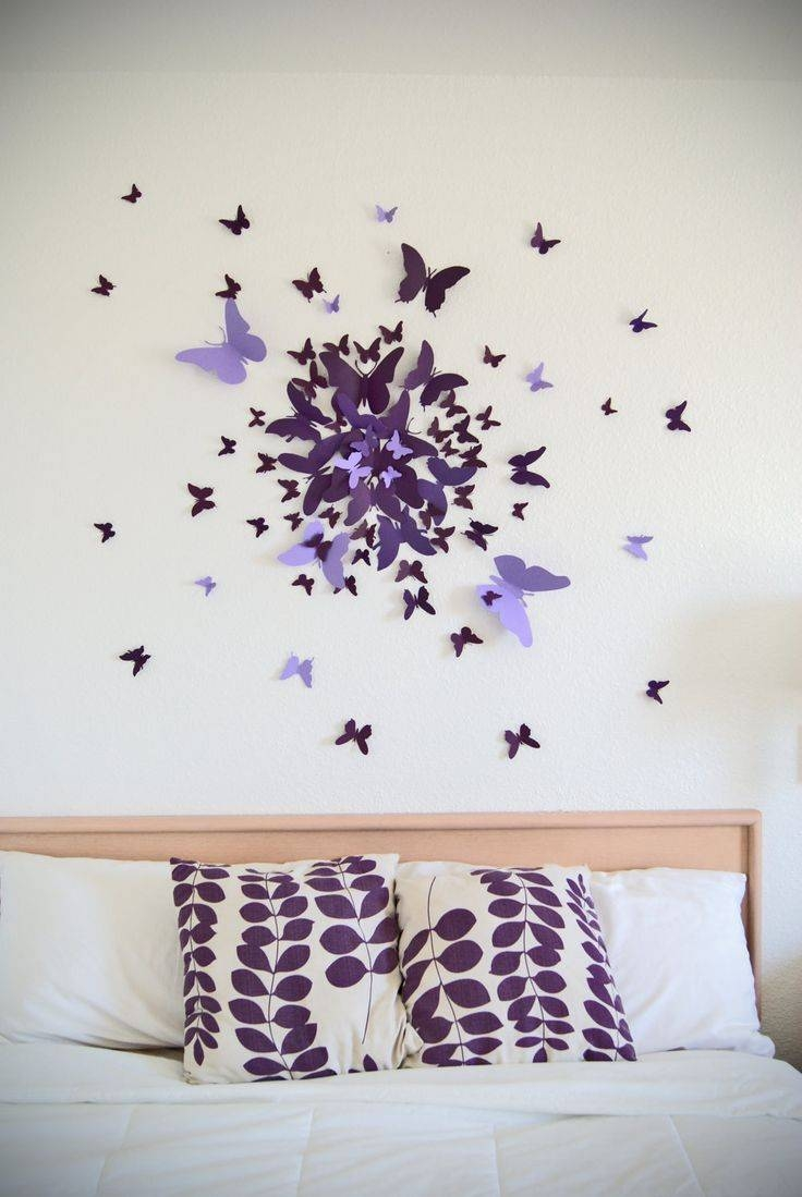 25+ Unique Butterfly Wall Decor Ideas On Pinterest | Diy Butterfly With Most Recent Bedroom 3D Wall Art (View 2 of 20)