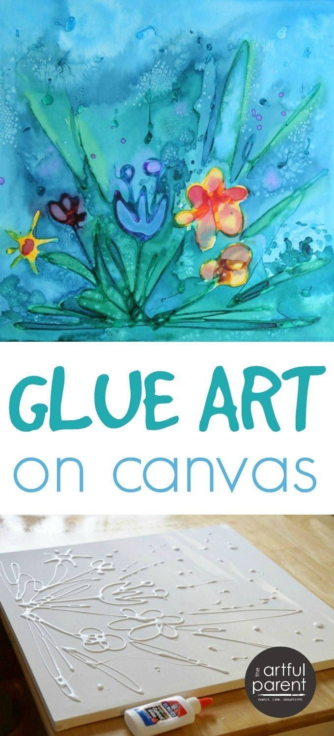 25+ Unique Canvas Art Projects Ideas On Pinterest | Glue Art, Kid In Most Up To Date Diy Pinterest Canvas Art (View 1 of 25)