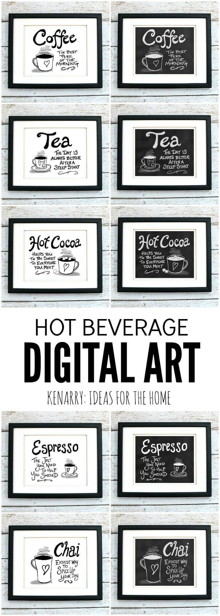 25+ Unique Coffee Wall Art Ideas On Pinterest | Coffe Shop For Best And Newest Cafe Latte Kitchen Wall Art (View 1 of 30)