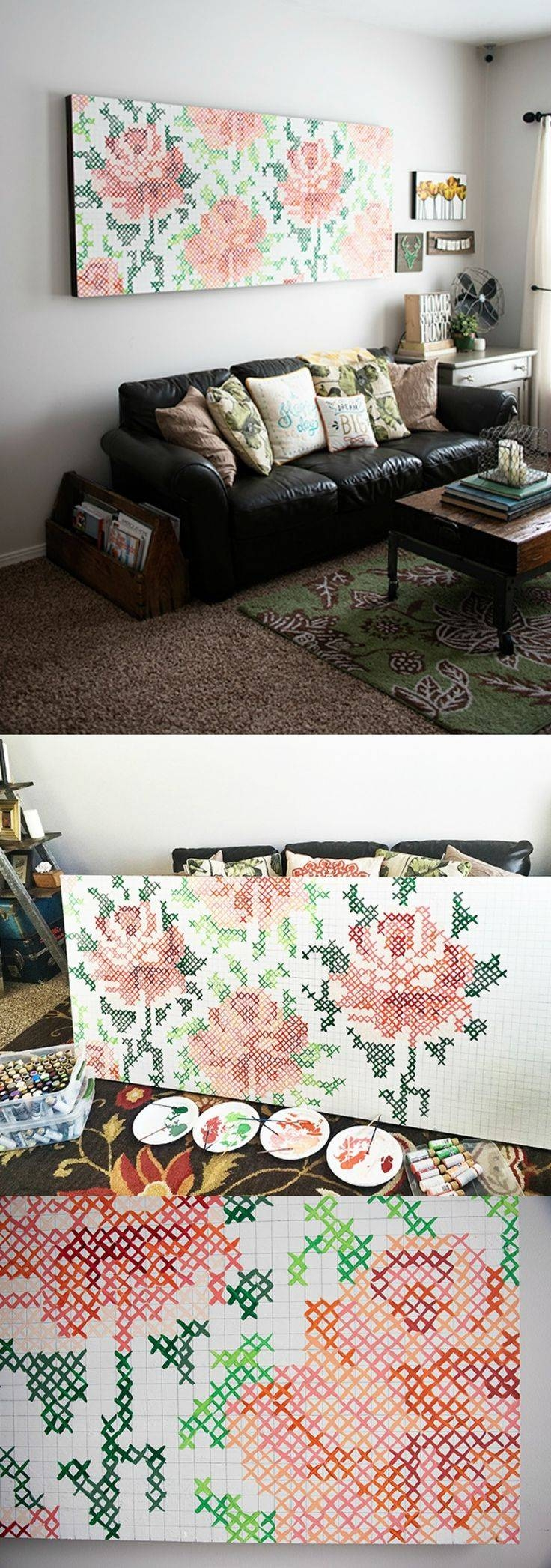 25+ Unique Diy Wall Art Ideas On Pinterest | Diy Wall Decor, Diy Throughout Latest Pinterest Diy Wall Art (View 9 of 25)