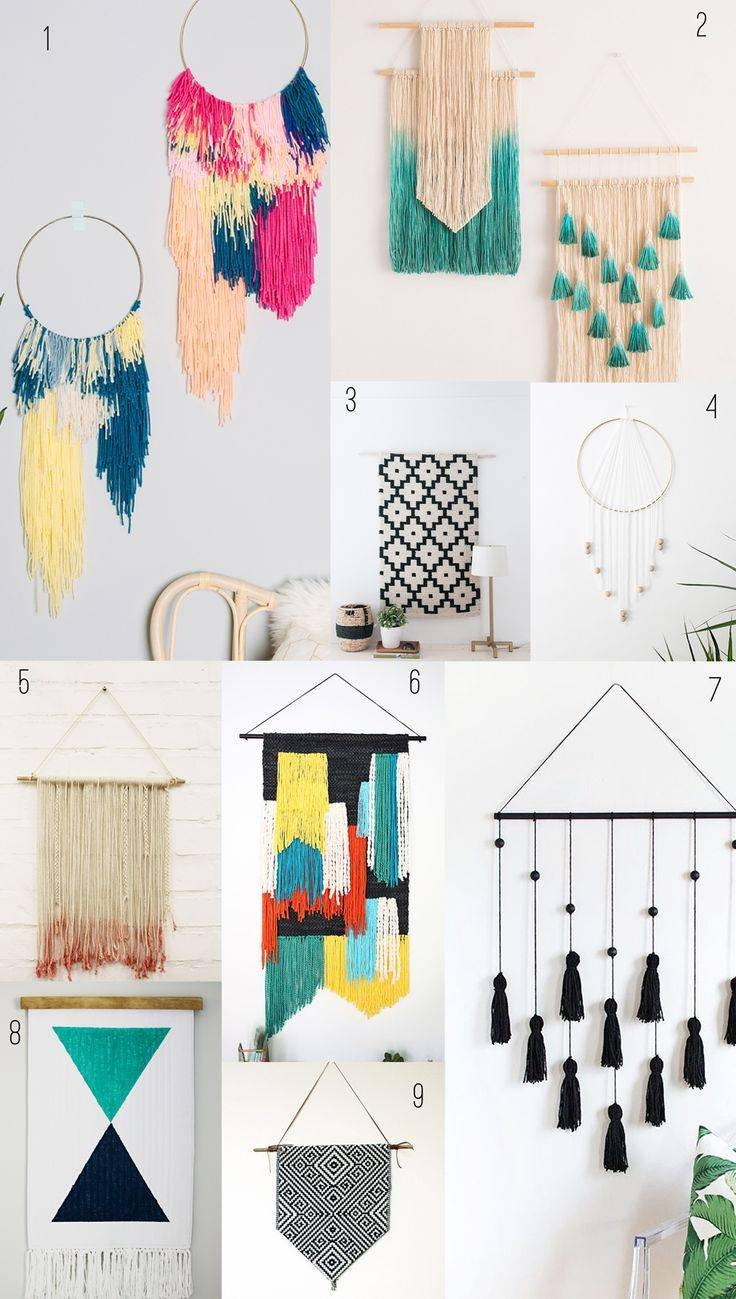 25+ Unique Diy Wall Decor Ideas On Pinterest | Diy Wall Art Inside 2018 Pinterest Diy Wall Art (View 12 of 25)